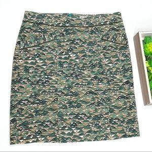 Anthropologie Edme & Esyllte Green Mountains Skirt